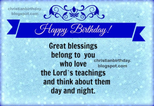 you. Free christian card with christian quotes for birthday, for man ...