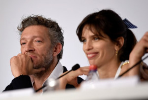Vincent Cassel and Maïwenn at event of Mon roi (2015)