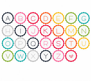 found this cutsie alphabet garland printable , and other really cool ...