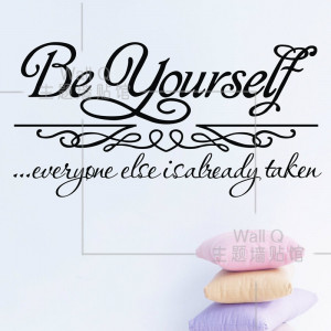 Do it ] Be yourself Encourage Quote wall stickers Cafe Bar Wall ...