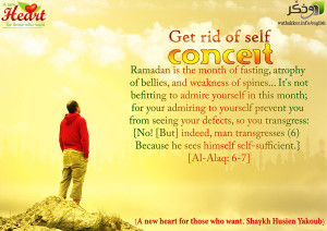 Get rid of self conceit