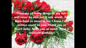 You Are So Sweet Quotes You have been so sweet to me - birthday quote