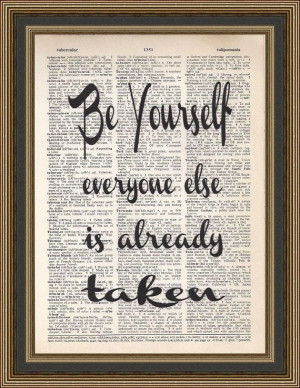 Oscar Wilde inspirational quote Be Yourself by PrintsWithStyle, $7.99