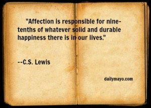 Quote: C.S. Lewis on Affection