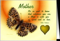 Thinking Of You ~ Mother / Quote ~ Fractalius Butterfly / Heart card ...