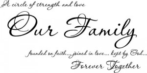 ... Family Founded On Faith joined in love kept by God vinyl wall sayings