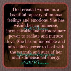 God created woman..
