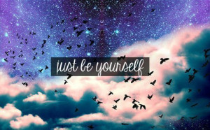 be yourself, beautiful, birds, nice, quote, sky, text, wishes, words