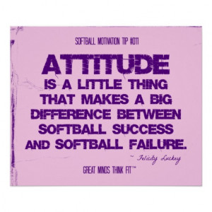 Softball Quotes in Threads 011 Print