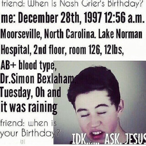 Most popular tags for this image include magcon nash grier funny