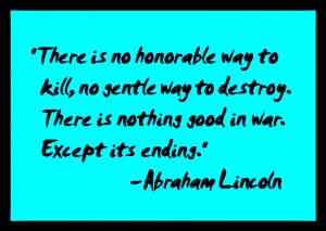 Lincoln Quotes ~