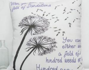 Dandelion Wishes Medium Moms Friend s Inspirational Quote Pillow ...