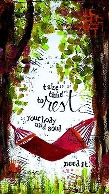 Take time to rest More