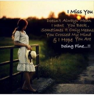 doing fine without you!