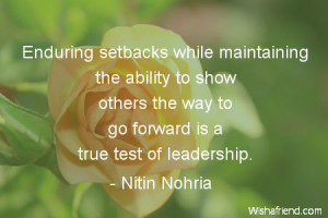 ability-Enduring setbacks while maintaining the ability to show others ...