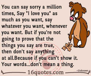 ... say sorry a million times, Say