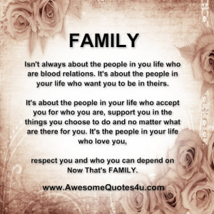 family isn t always about the family isn t always