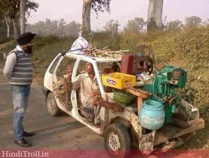 Desi Car in India(Jugad)(Funny Indian Photos Car Wallpaper)