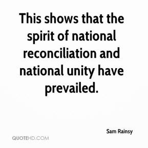 Sam Rainsy - This shows that the spirit of national reconciliation and ...