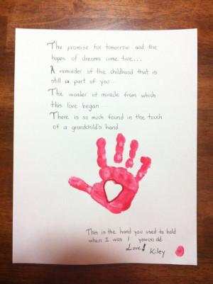Grandparents Day Handprint Poems For Preschoolers Kootationcom Picture