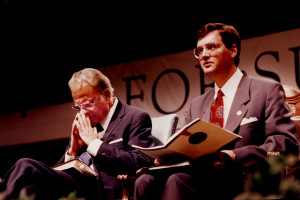 The Rev. Billy Graham meditated next to Southern Seminary President ...