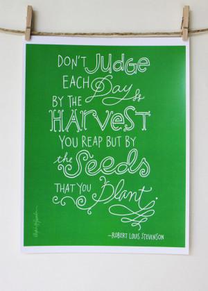 Robert Louis Stevenson Quote - Digital Print Mini Poster