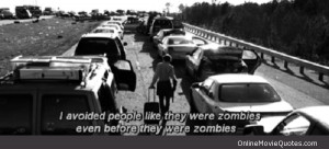 ... Zombieland starring Jesse Eisenberg, Woody Harrelson, and Emma Stone