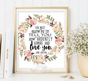 ... Printable Scripture, Prints Wall, Printable Jane, Jane Austen, Quotes
