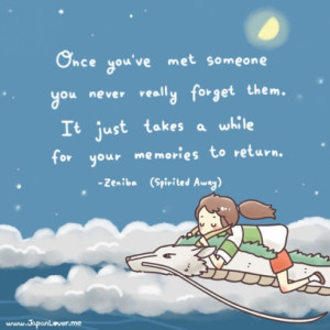 ... While For Your Memories To Return Quote By Zeniba In Spirited Away