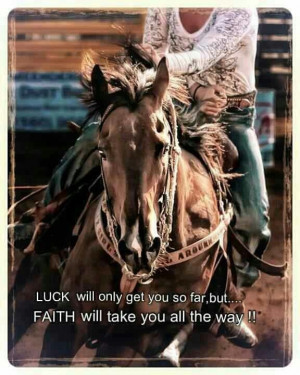 ... will only get you so far, but... FAITH will take you all the way