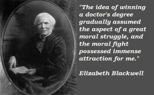 Elizabeth blackwell famous quotes 5