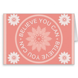 Three Word Quotes ~Believe You Can~ Card