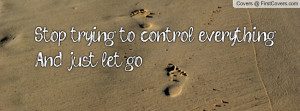 stop trying to control everythingand just let go , Pictures