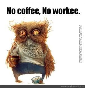 Funny Picture - No coffee no workee
