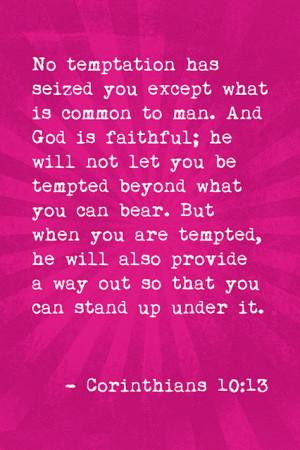 No Temptation Has Seized You (Corinthians 10:13), Bible Verse Poster ...