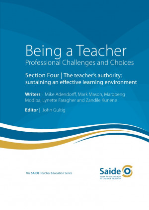 ... teacher's authority: sustaining an effective learning environment