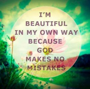 am beautiful