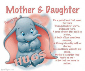 Mothers & Daughter Its Is Special Bond That Spans The Year Thought ...