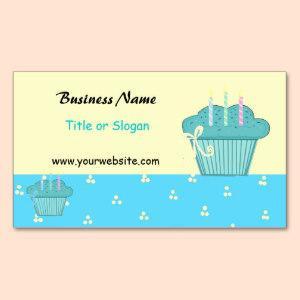 Cute Blue Cupcake Design