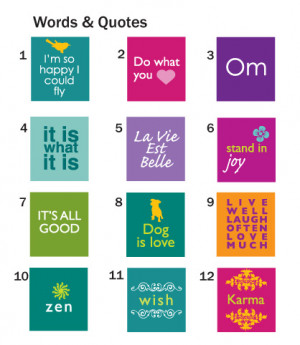 Words & Quotes Pendants 4