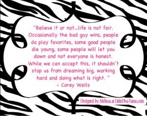Corey Wells (partial quote)