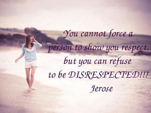 Respect & Disrespect