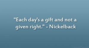 Nickelback Quote