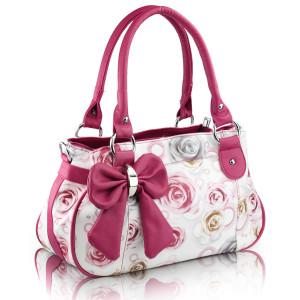 Nice bags vintage bow women's handbag national trend small fresh print ...