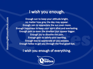 Wish You Enough Quote