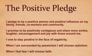 The Positive Pledge