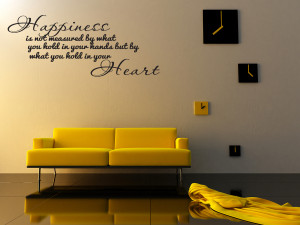 HAPPINESS-Home-Bedroom-Decor-Vinyl-Wall-Quote-Art-Decal-Lettering ...