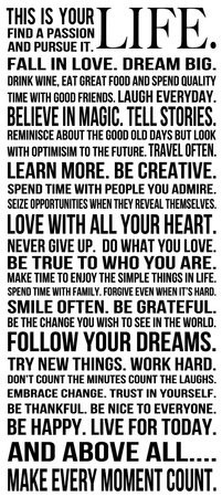 Motivational Wallpaper on Life : THIS IS YOUR LIFE. FIND A PASSION AND ...