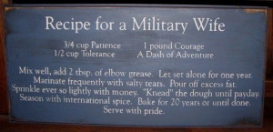 Poems About Military Spouses | Recipe for a Military Wife Handcrafted ...