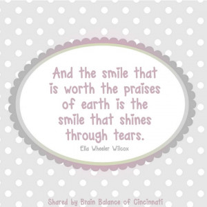 And the #smile that is worth the #praises of #earth is the smile that ...